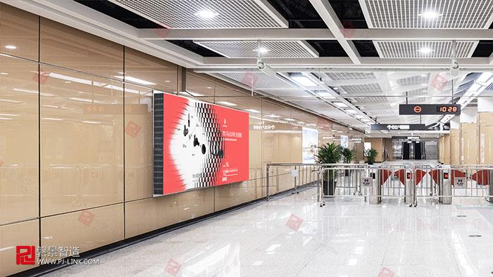 波浪屏效果图户外广告显示屏图